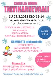 Talvikarnevaali @ Valkon monitoimitalo